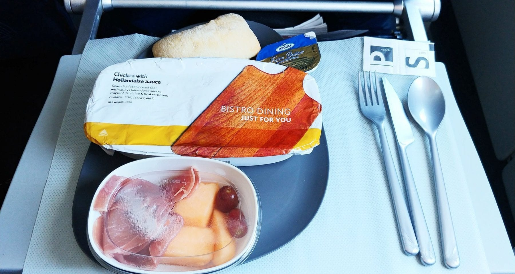 Delta new main cabin service hot meal