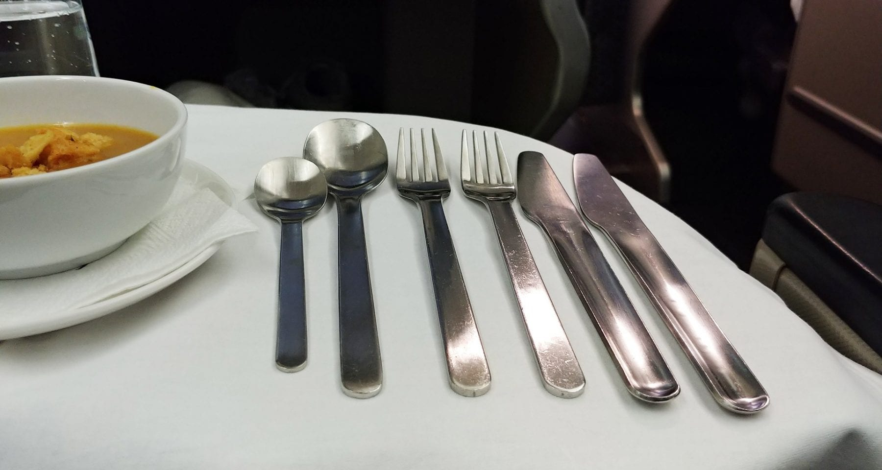 Qantas Cutlery Qantas Business Class Melbourne to Perth