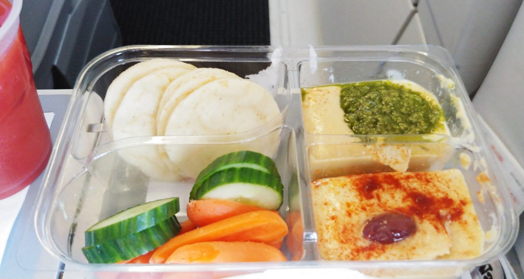 American airlines hummus meal