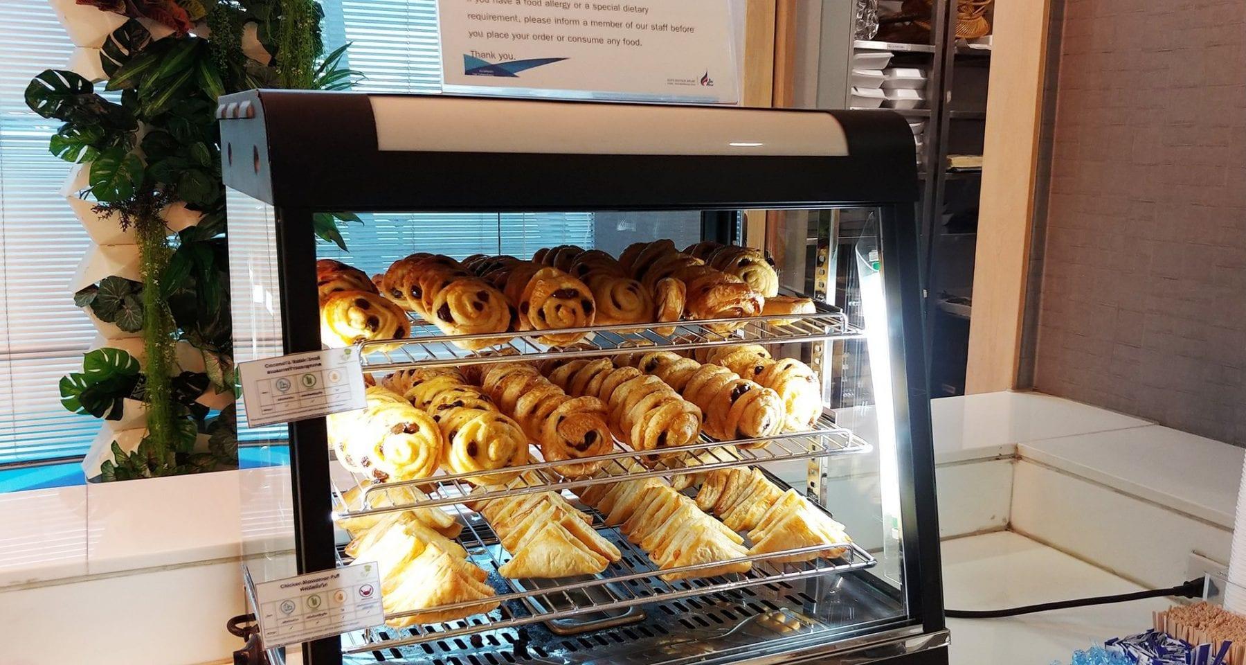Bangkok Airways Lounge pastries
