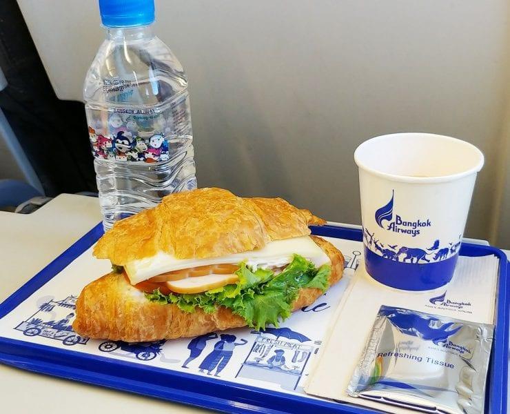 Bangkok Airways economy class meal Bangkok to Phuket