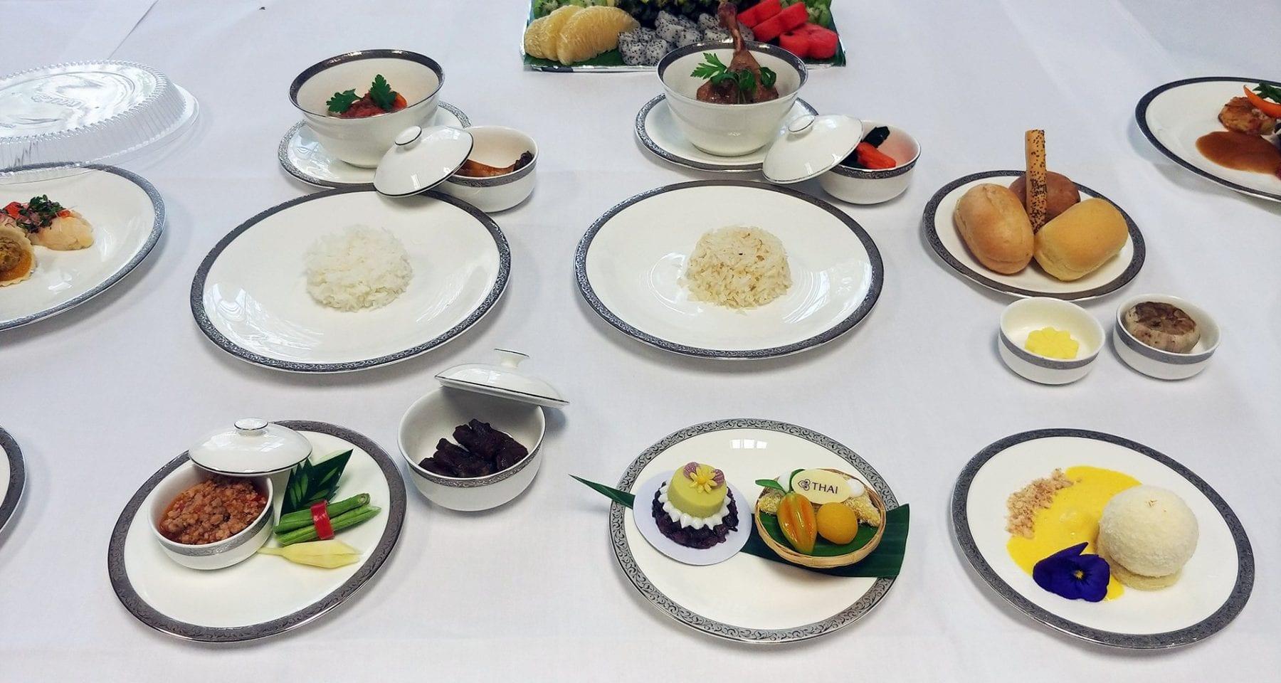 thai airways first class meal