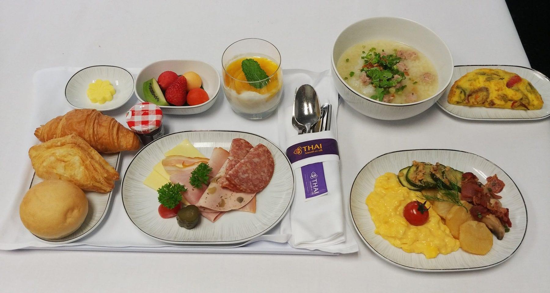 thai airways breakfast business class