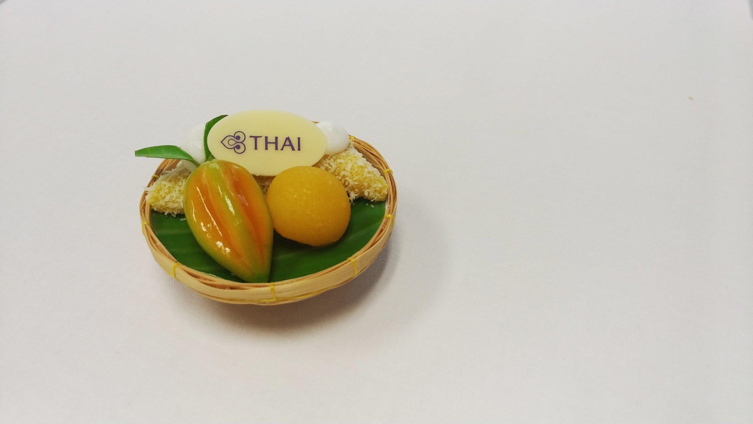 Thai Airways inflight desserts