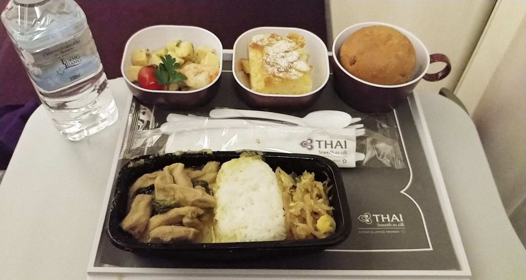 Thai Airways Economy Class Meal Bangkok to Zurich
