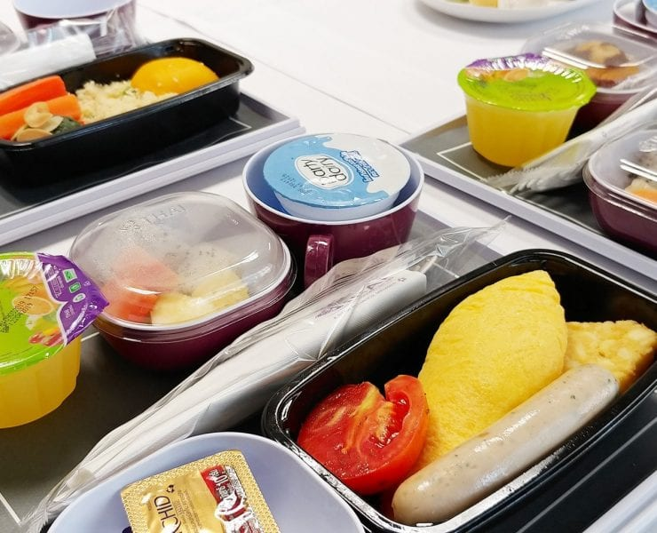 Thai Airways Economy Class Meals