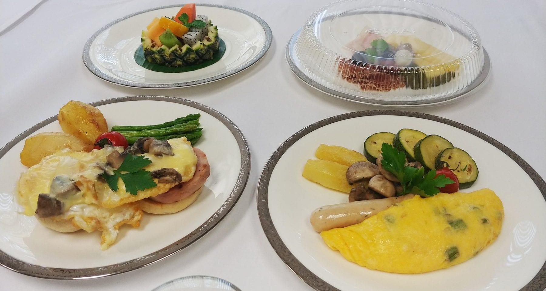 Thai Airways First Class Meals