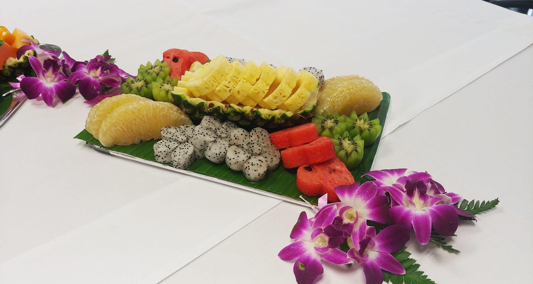 Thai Airways inflight fruit meal