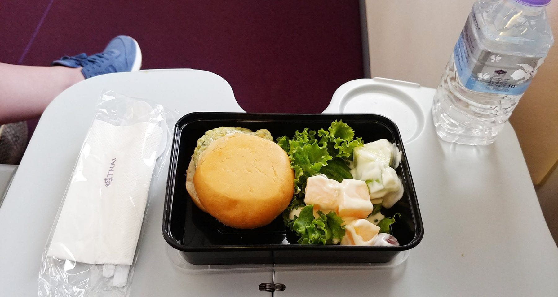 Thai Airways economy class meal domestic flight