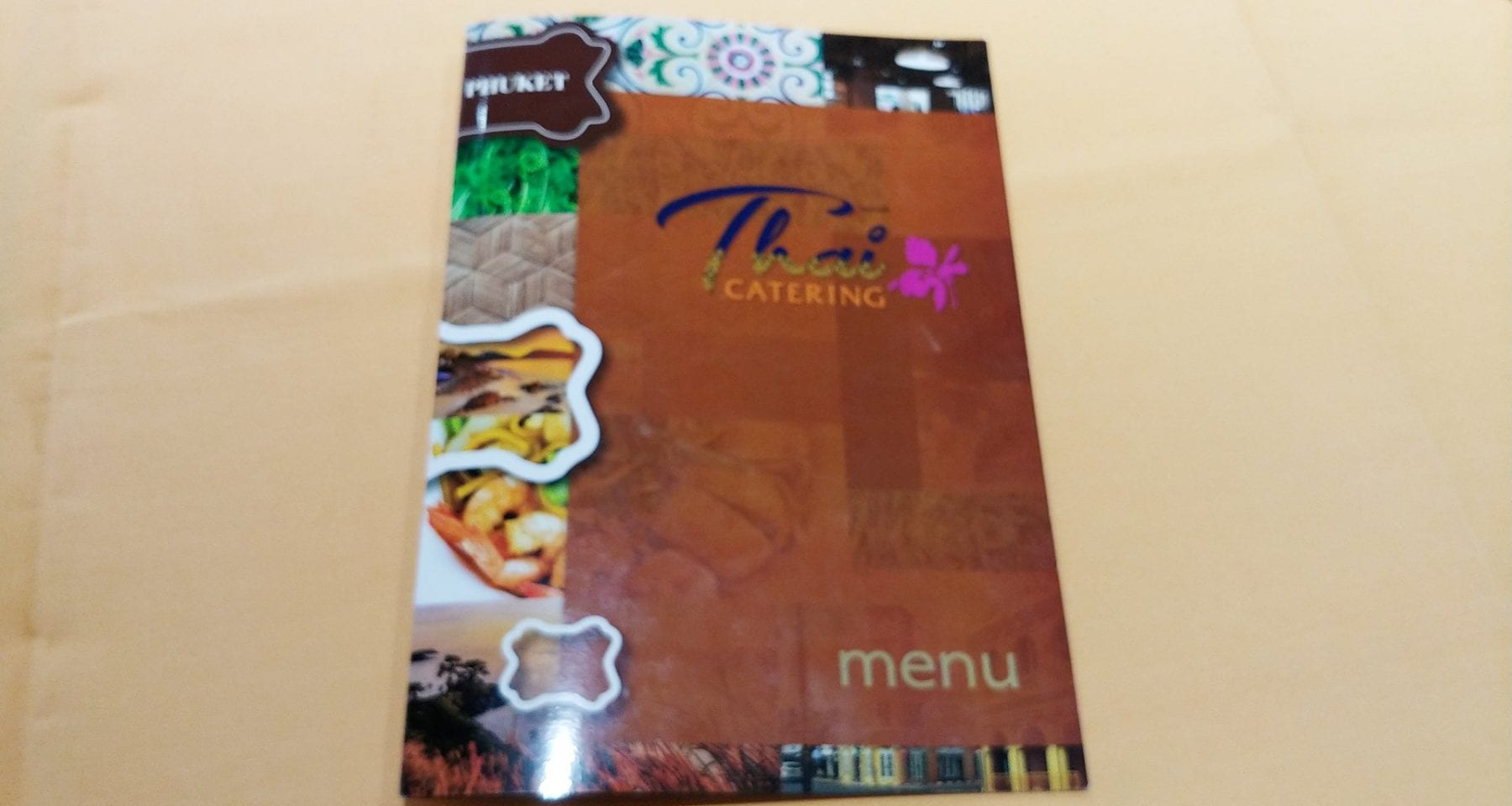 Thai Airways Restaurant Phuket Airport Menu
