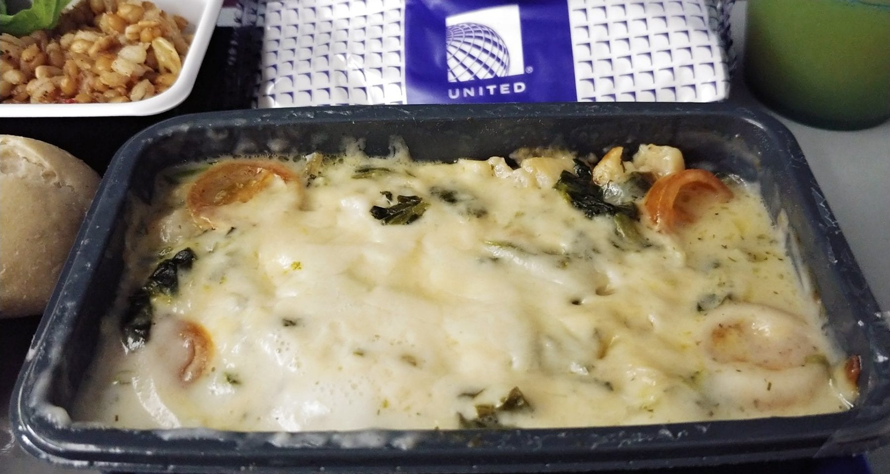 United airlines main meal economy class