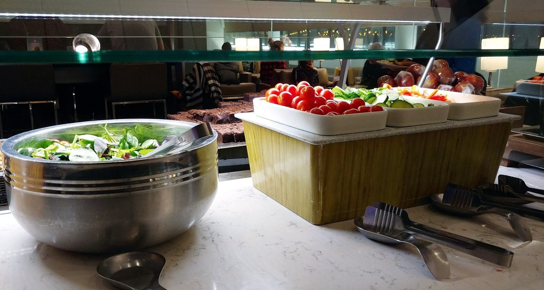 United Airlines food offering Newark Airport Lounge