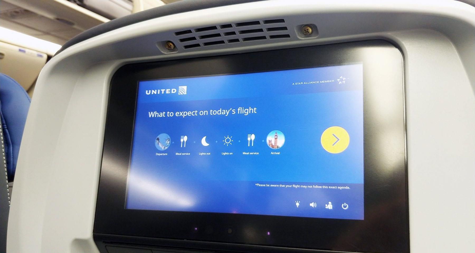 United Airlines Inflight Service Sequence