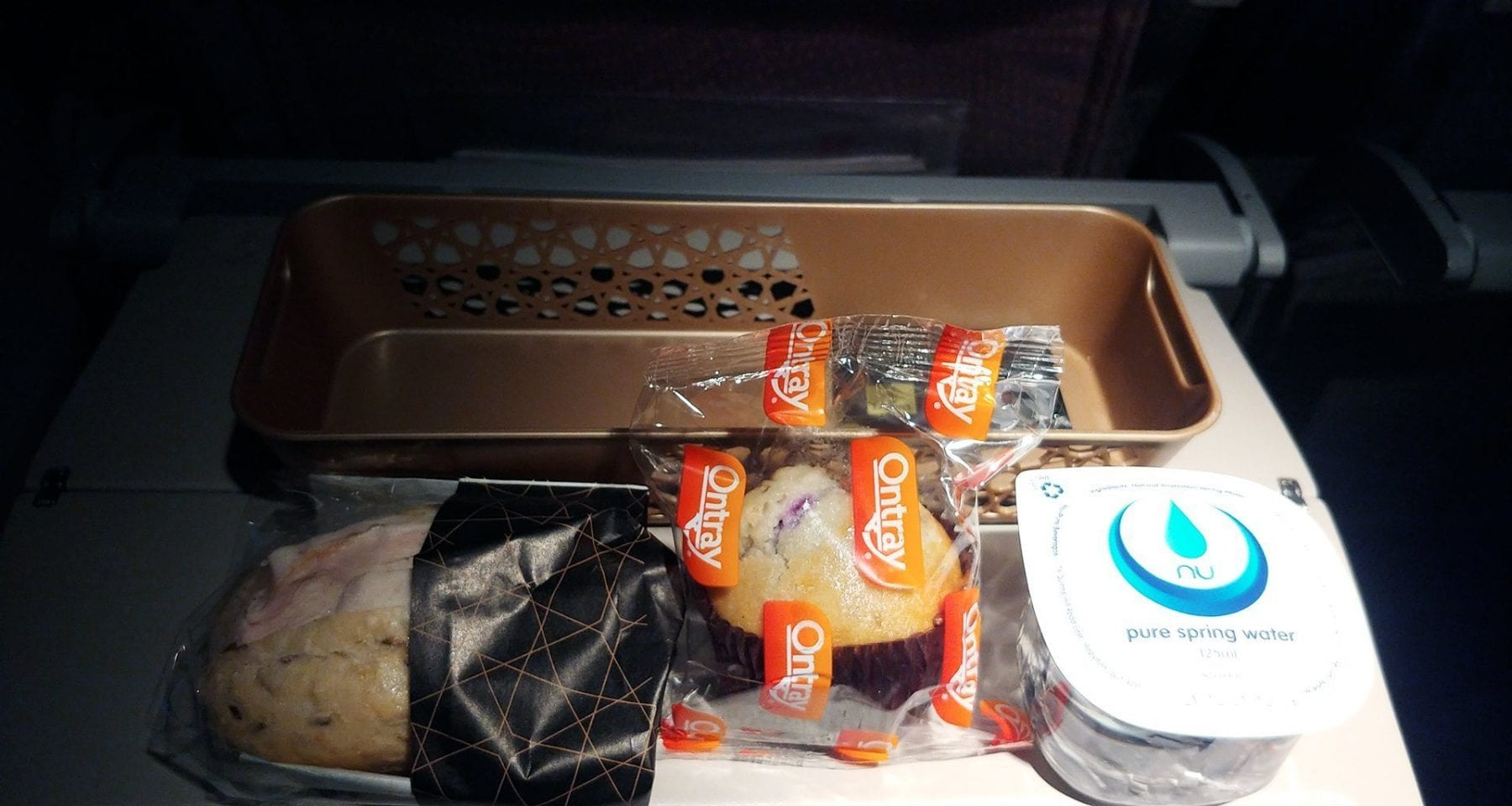 Emirates economy class second meal service