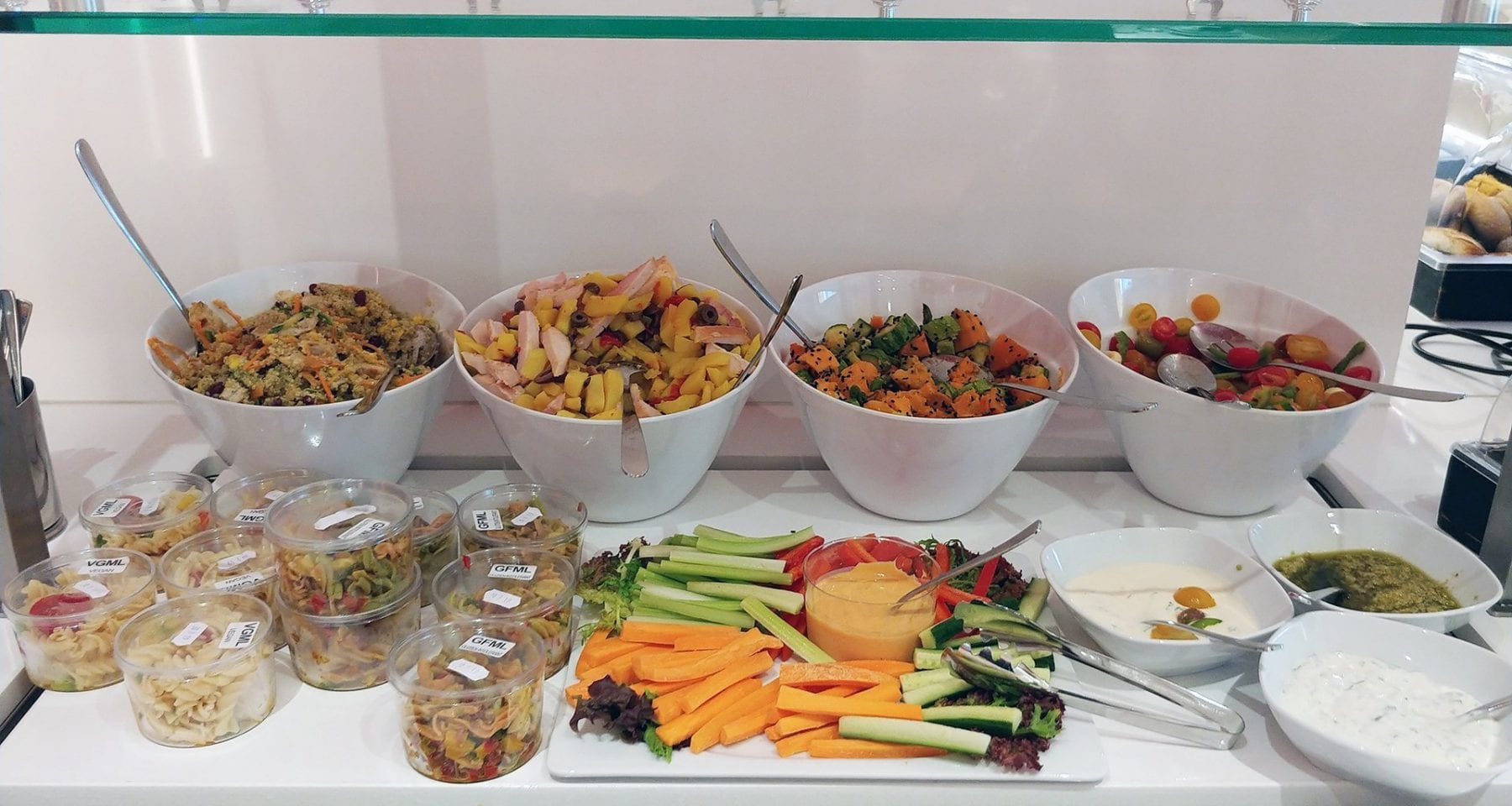 Aegean airlines salad bar lounge Athens airport