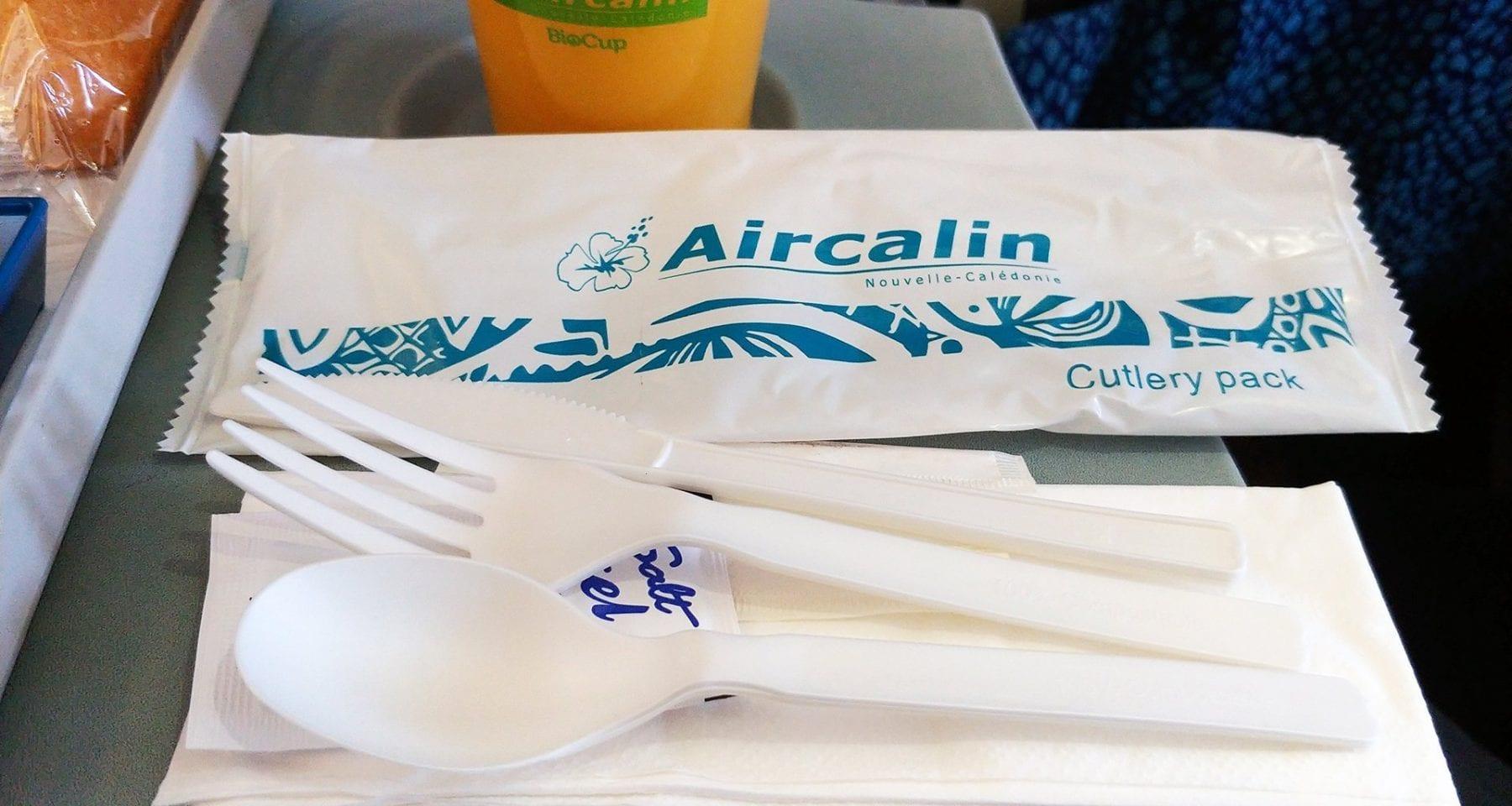 Air Calin cutlery economy class