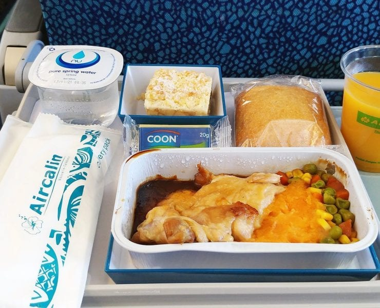 Air Calin Inflight Meal Economy Class
