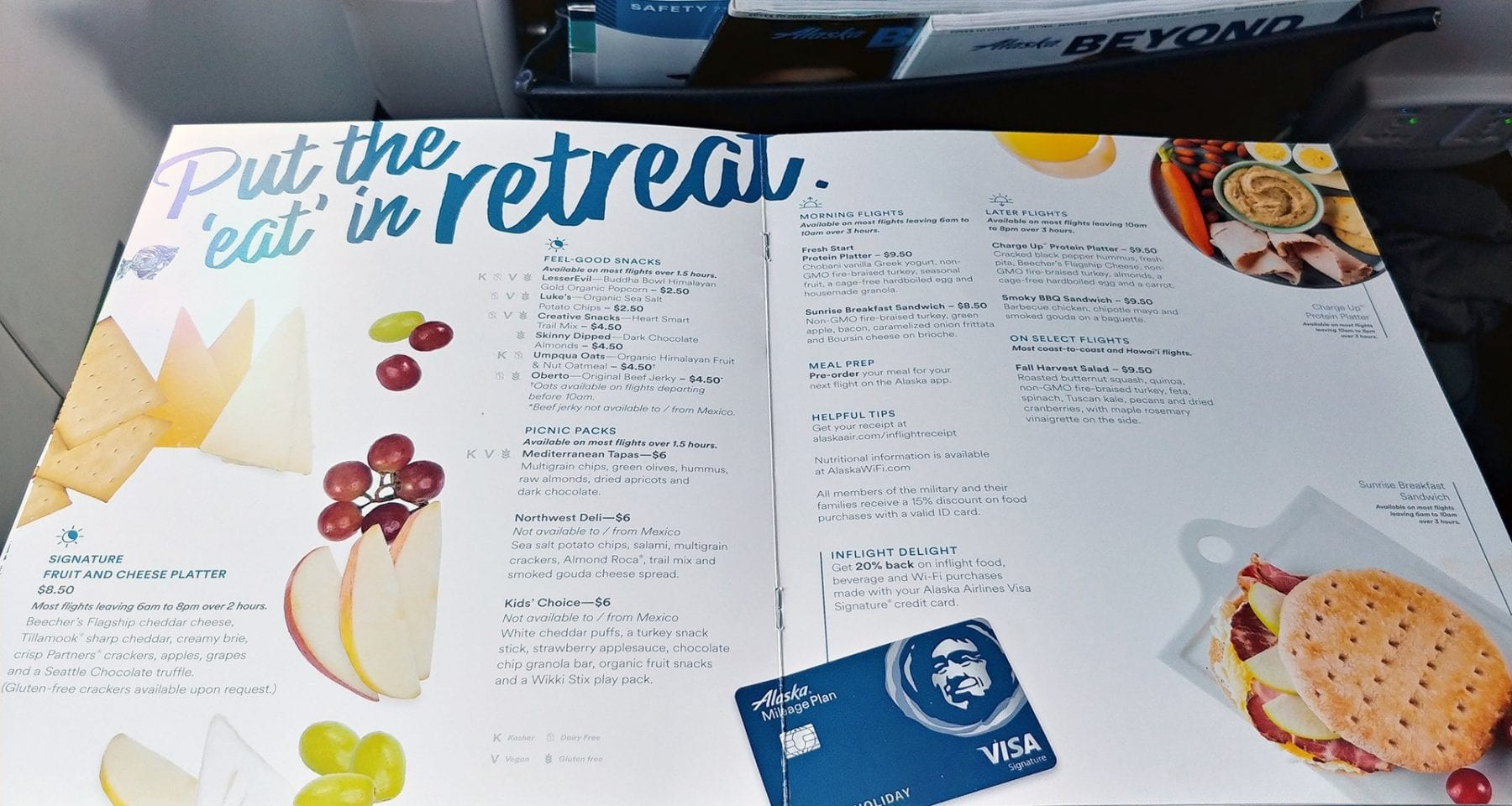 Alaska Airlines Inflight Menu