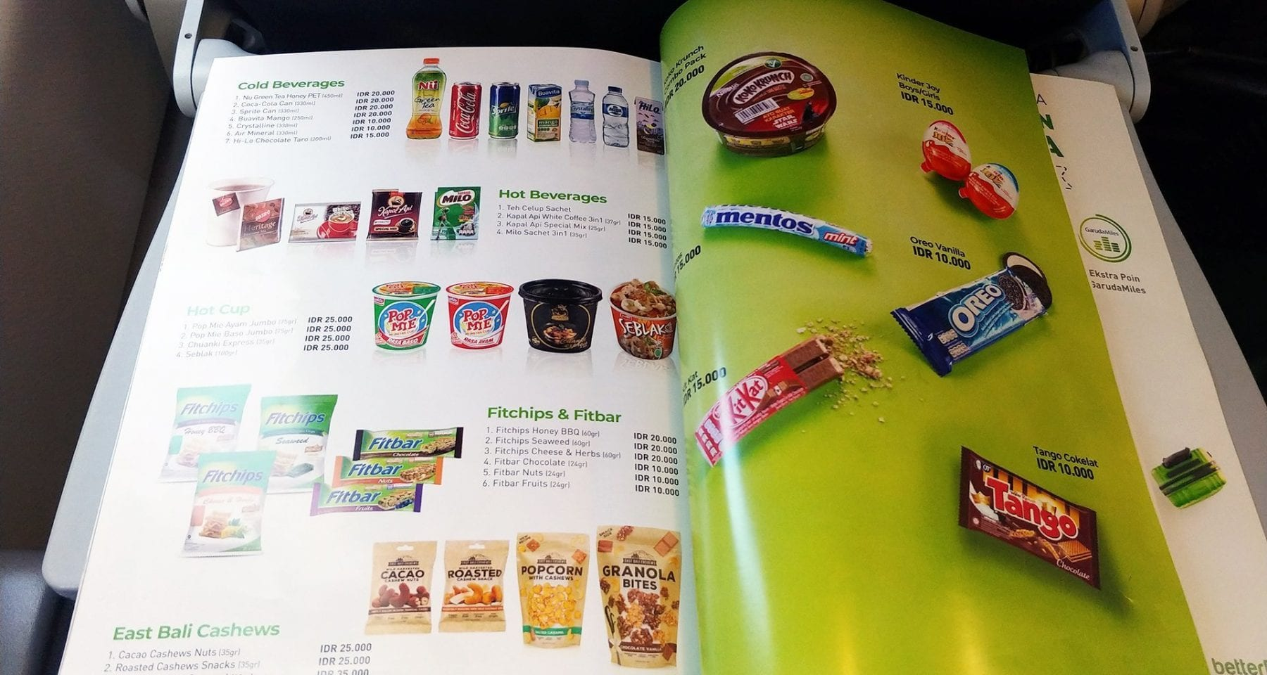 citilink buy on board menu