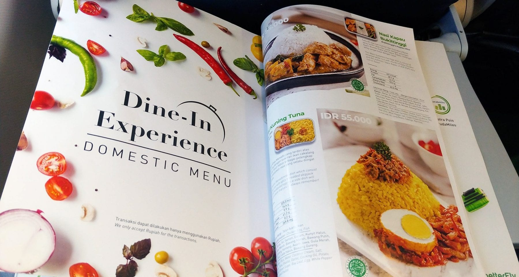 Citilink dine in experience onboard menu economy class