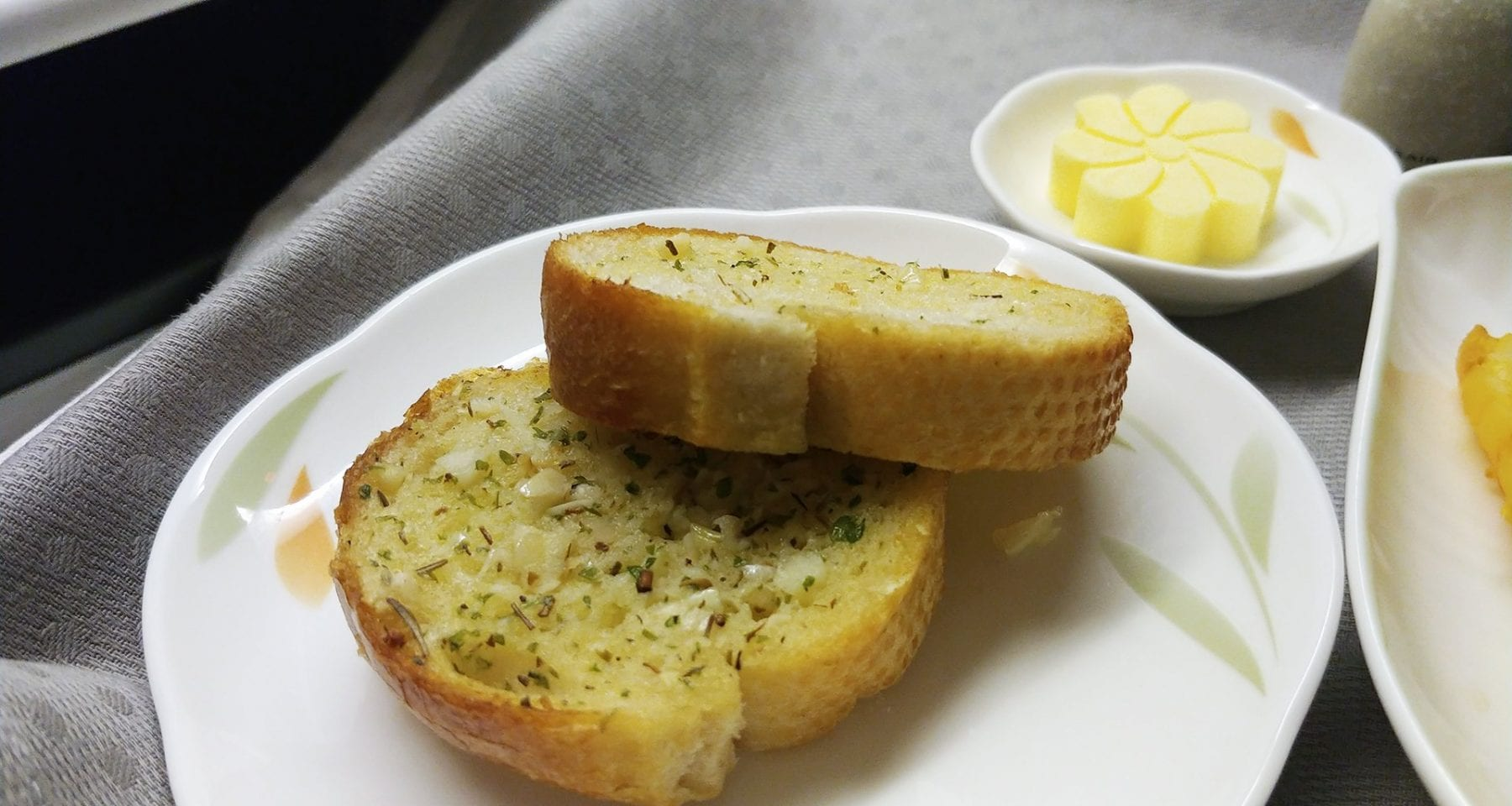 Eva Air Garlic Bread business class