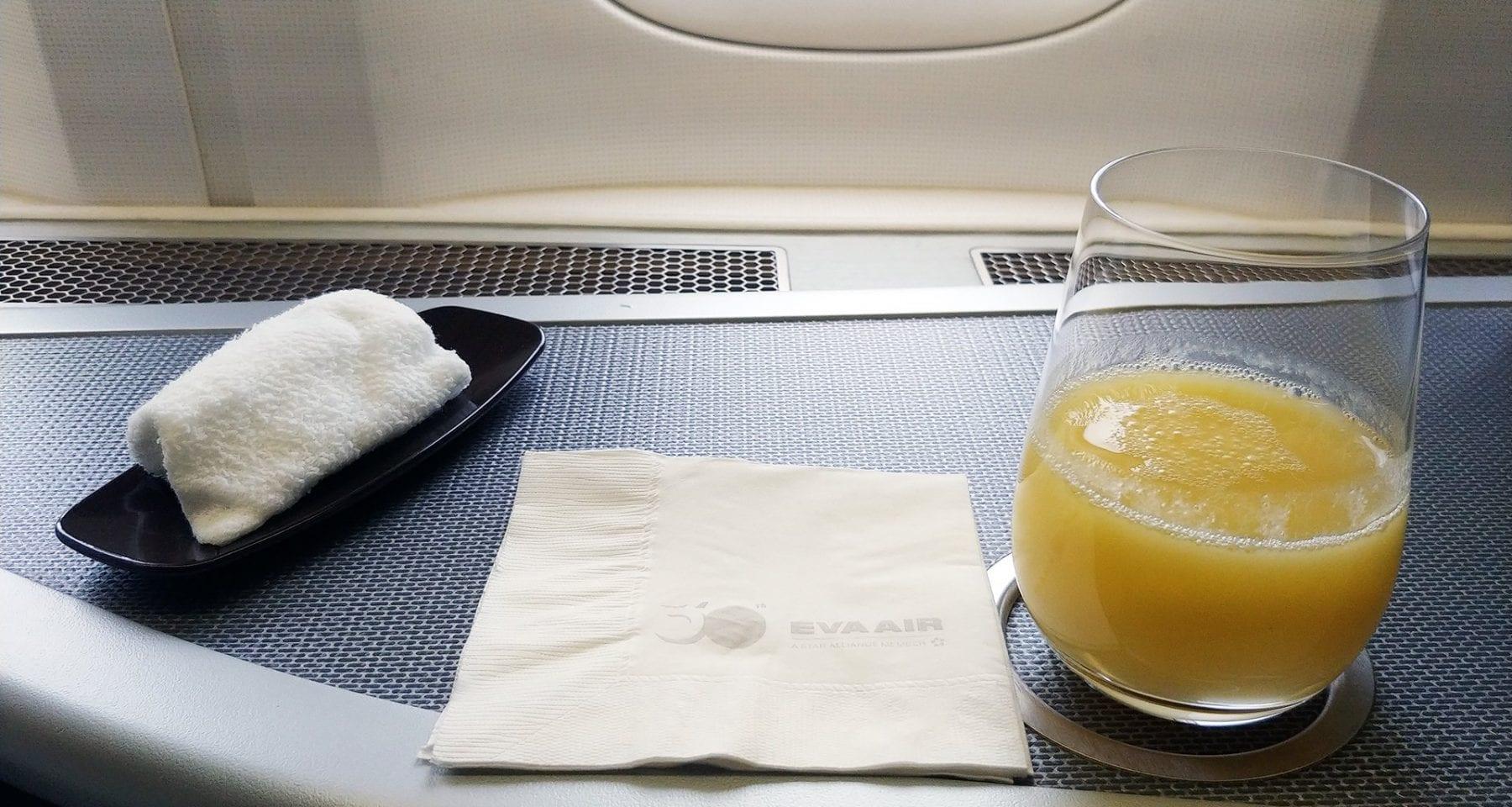 Eva Air Breakfast pressed juice