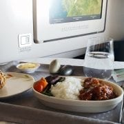 Eva Air Business Class Honey Chicken Meal