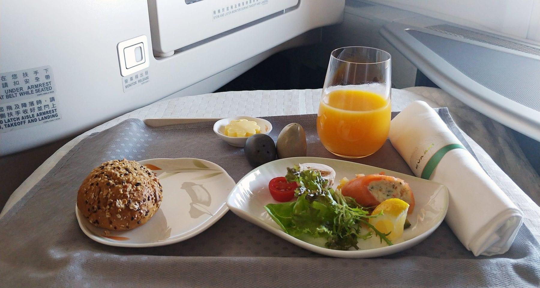 Eva Air Business Class Entree