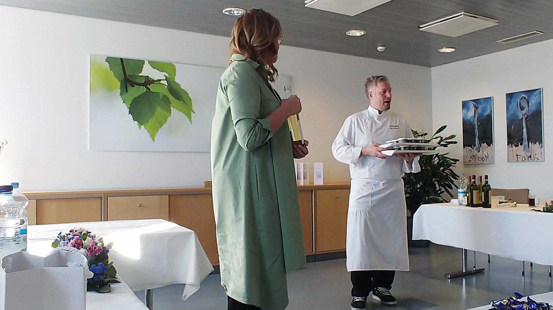 Finnair Business Class Meal Service