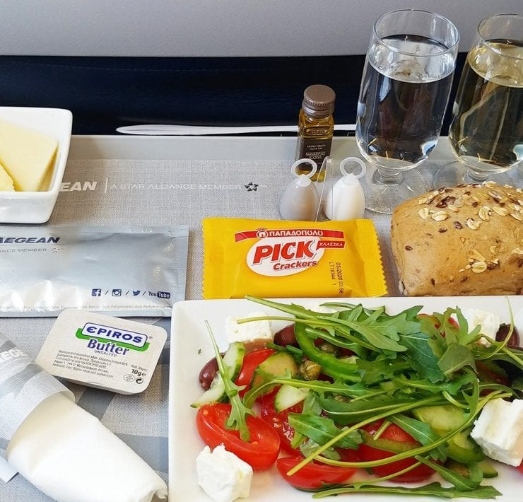 Aegean airlines business class starter