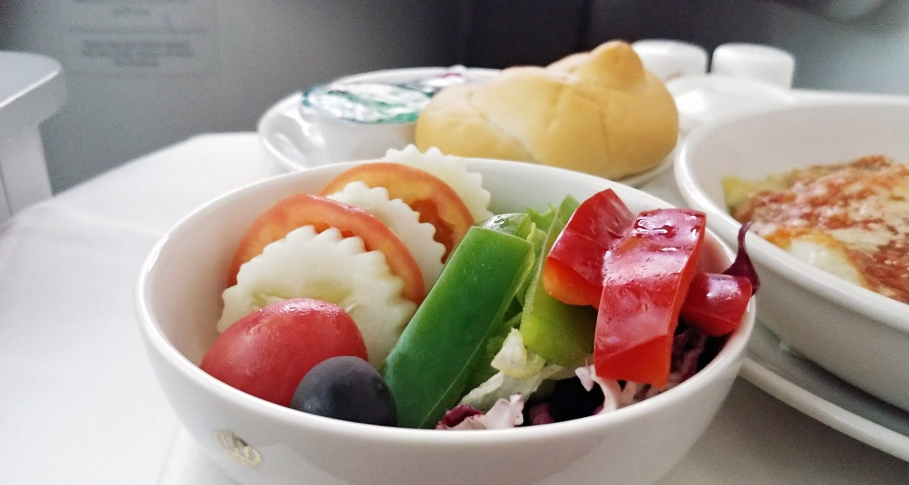 Royal Jordanian business class salad