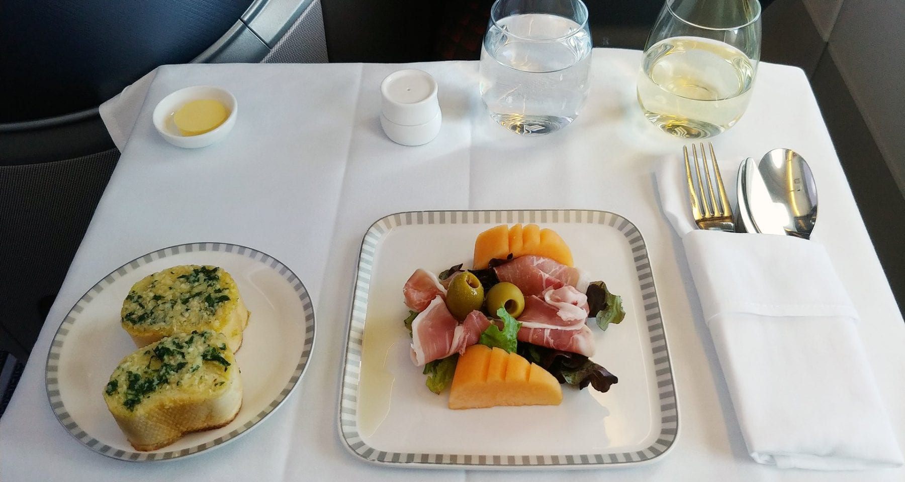 Singapore Airlines Entree Prosciutto e Melon Business Class