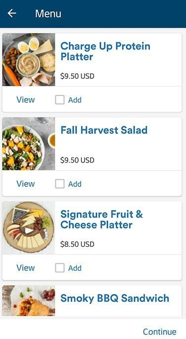 Alaska Airlines pre order meal options
