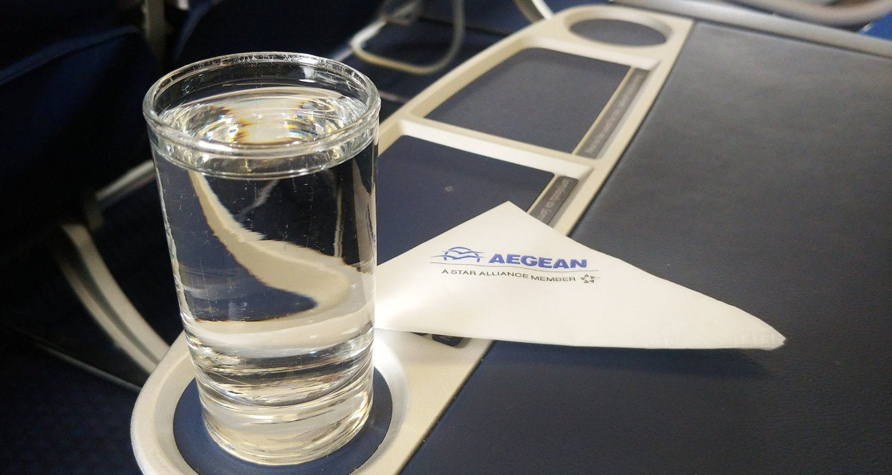 Aegean Airlines Welcome Drink Business Class