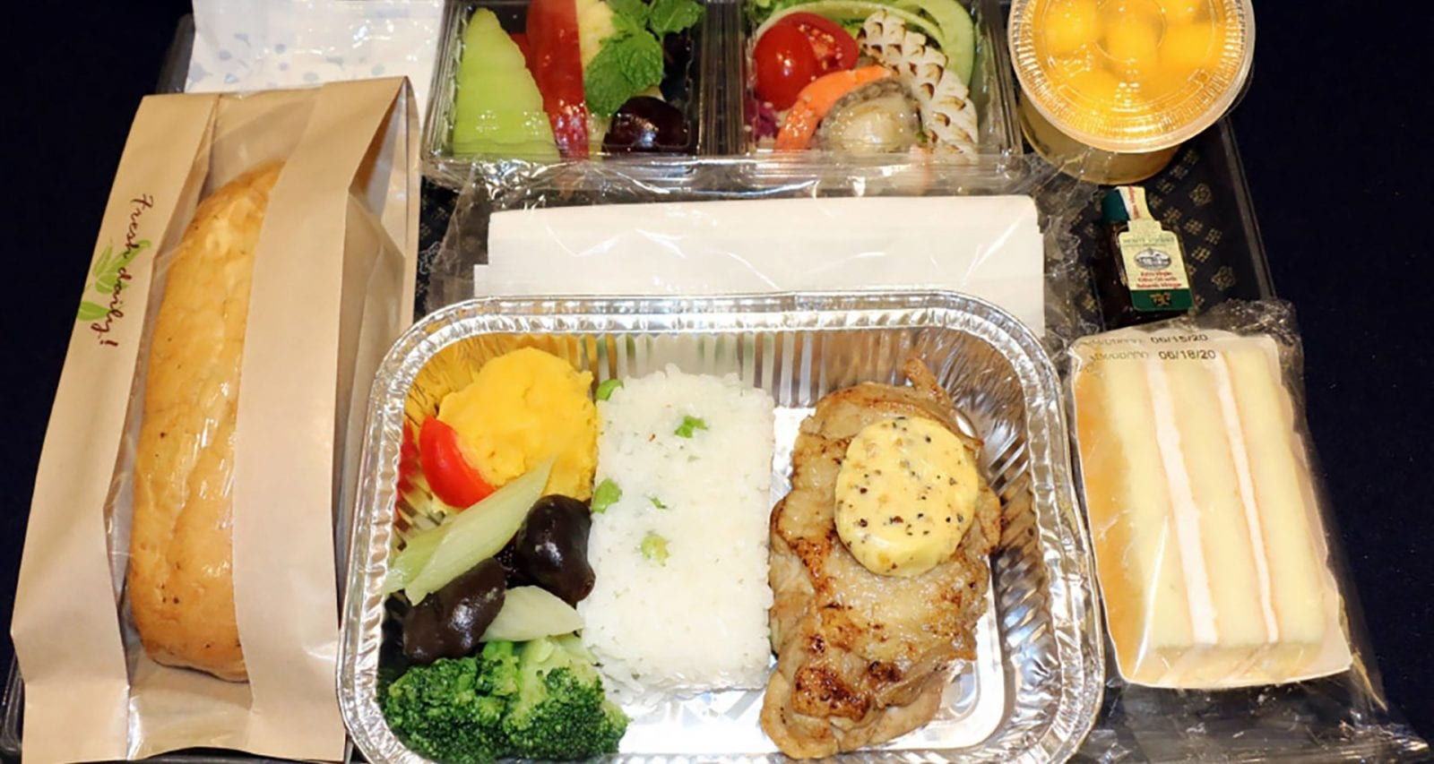 china airlines economy class meal during coronavirus