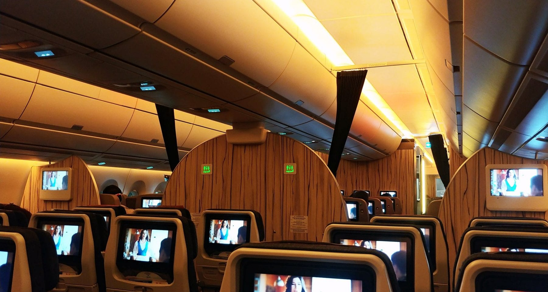 china airlines a350 cabin