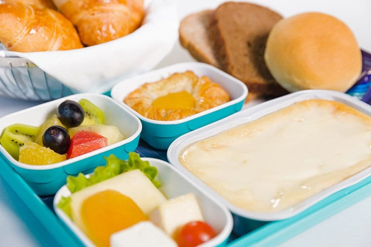 azal airlines economy class meal