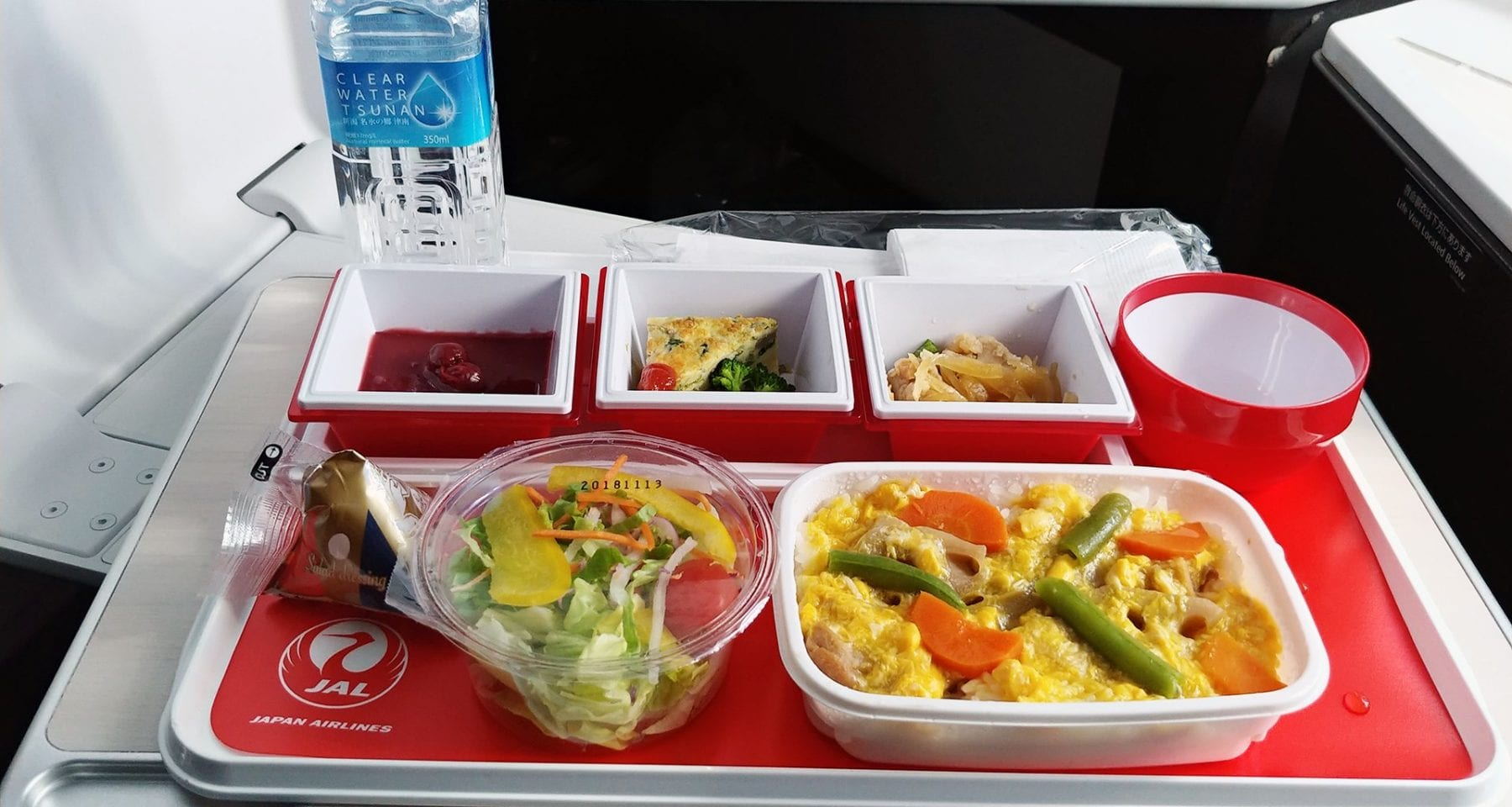japan airlines economy class meal