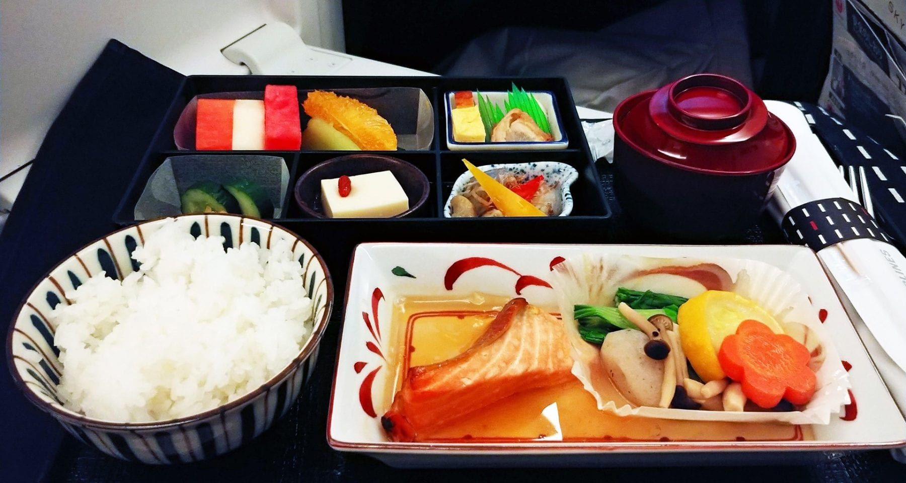 japan airlines business class main meal