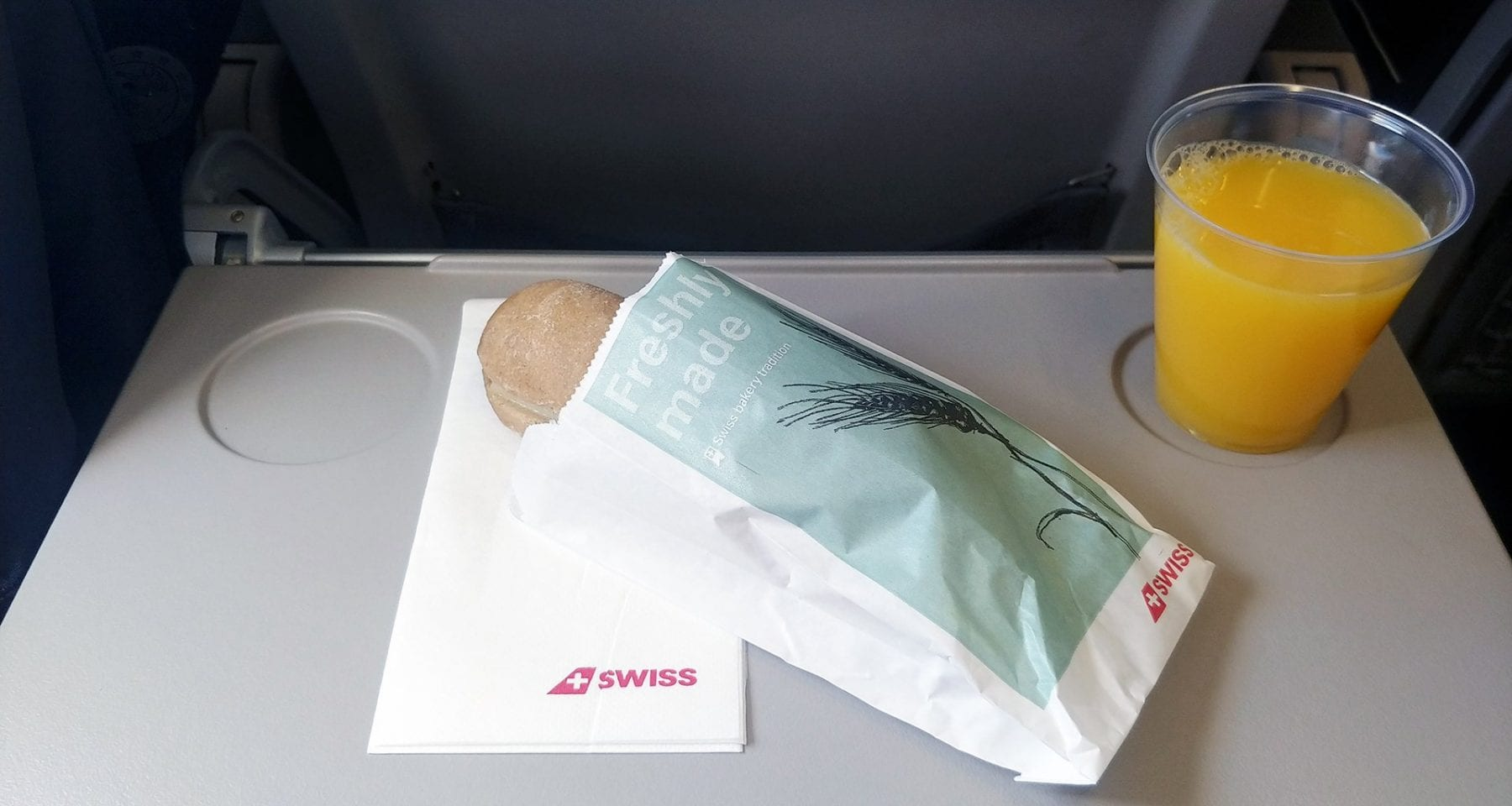 swiss air economy class meal