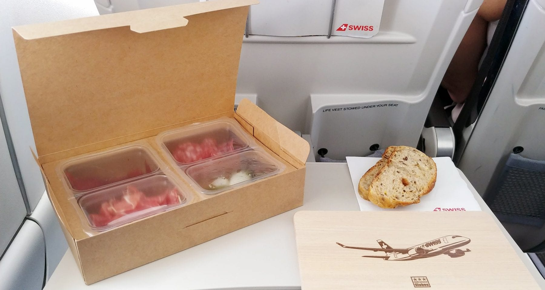 swiss air geneva meals