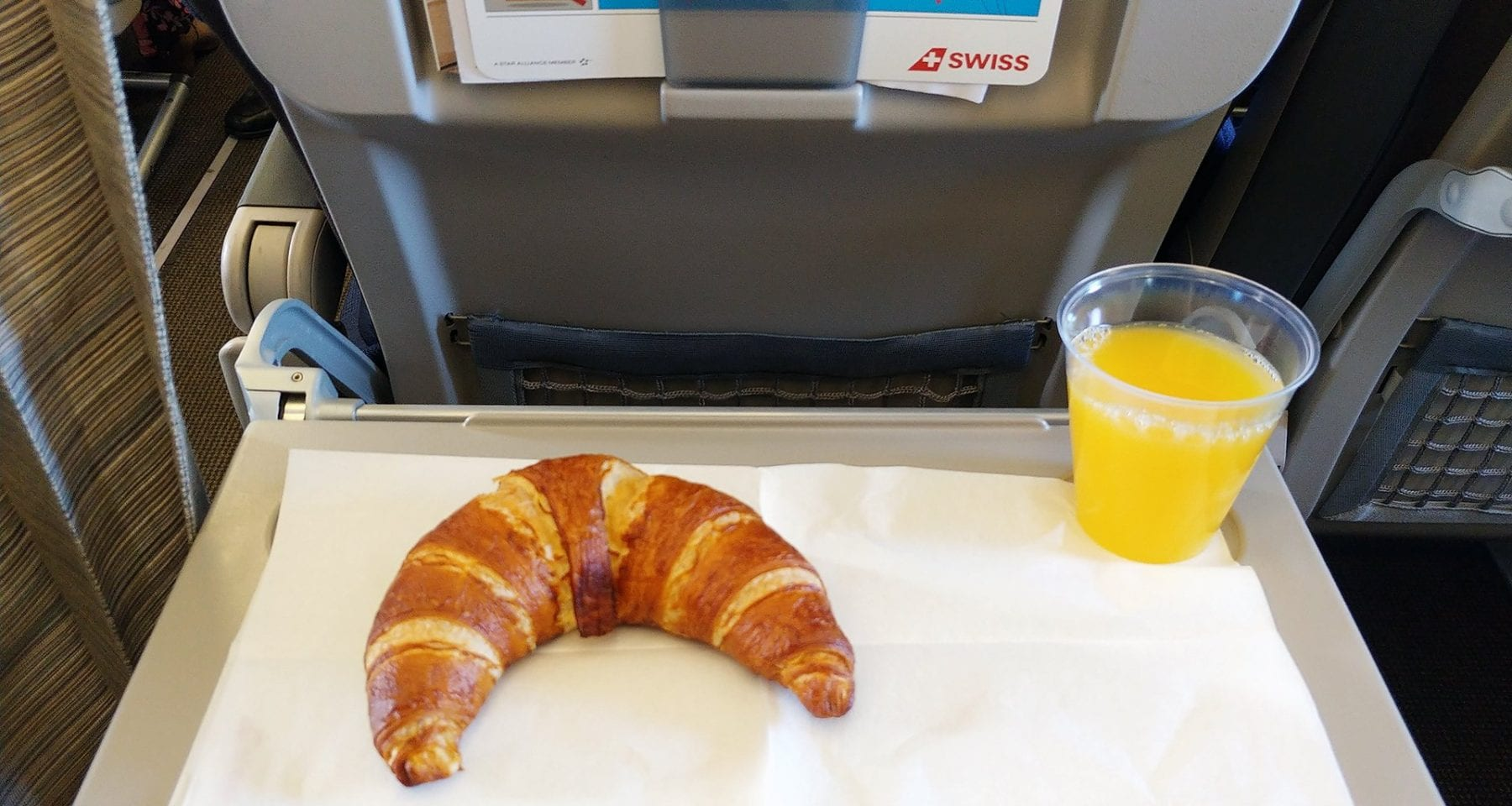 swiss airlines short haul meal