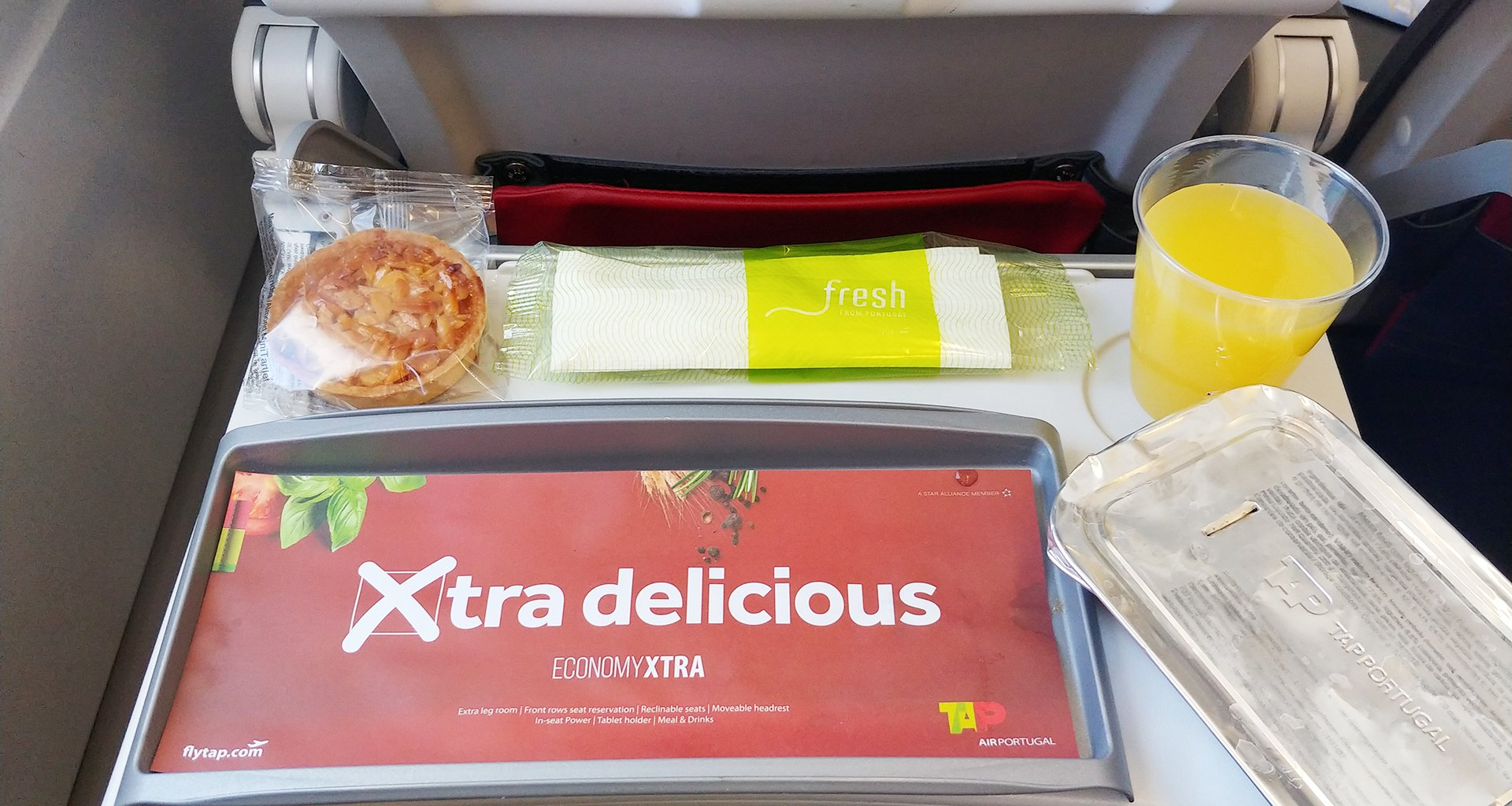 tap airlines xtra delicious meal