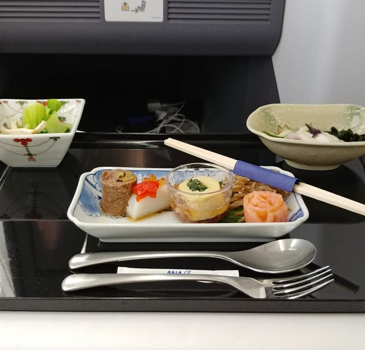 ana airlines business class meal